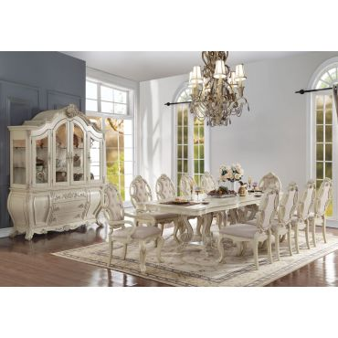 Firenza Antique White Dining Table Set