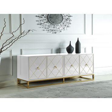 Fitz White Modern Buffet Cabinet