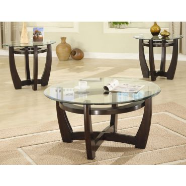 Flavie Contemporary Glass Top Coffee Table