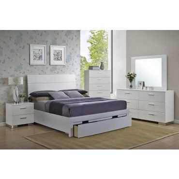 Floren Contemporary Bed With Storage