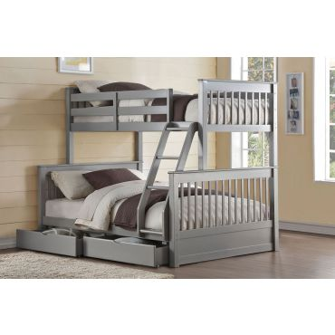 Florida Grey Finish Bunkbed With Drawers