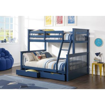 Florida Navy Blue Bunkbed With Storage