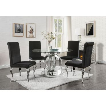 Freya Round Mirrored Dining Table