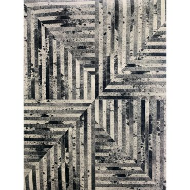 Modern Area Rug TF 62 Gray Yellow