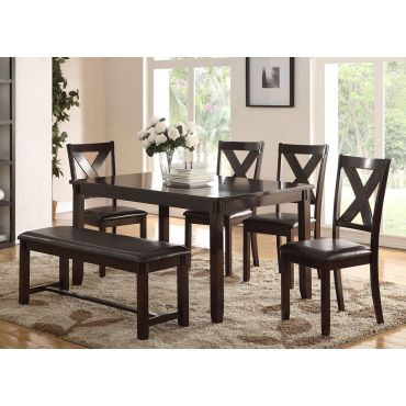 Galina Casula Dining Table Set With Bench