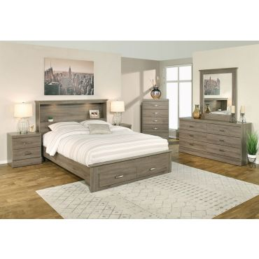 Gamma Grey Platform Bed