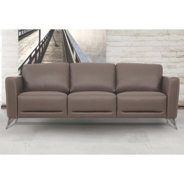 Garland Taupe Italian Leather Sofa