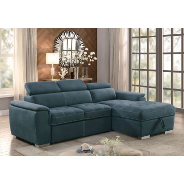 Gemma Sectional Sleeper,Gemma Blue Fabric Sectional With Storage,Gemma Blue Sectional With Sleeper,Gemma Blue Fabric Chair,Gemma Blue Pull Out Chair