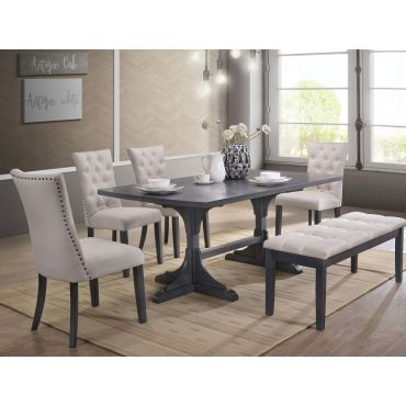 Gena Mid-Century Modern Dining Table Set