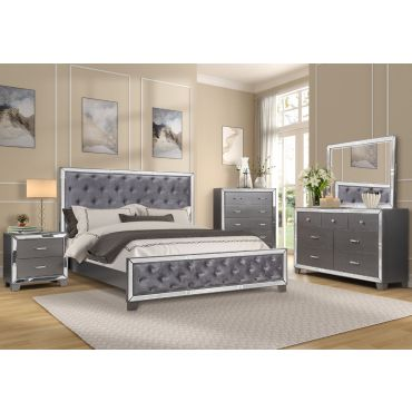 Giulia Grey Finish Bedroom Furniture