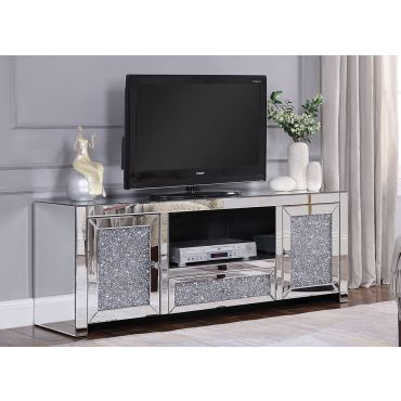 Marlow Mirrored TV Stand,Marlow TV Stand