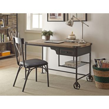 Glora Industrial Style Writing Desk