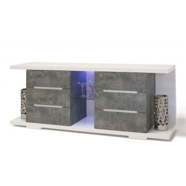 Grafton Concrete Look Buffet With LED Light