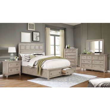 Granada Rustic Finish Bed With Drawers