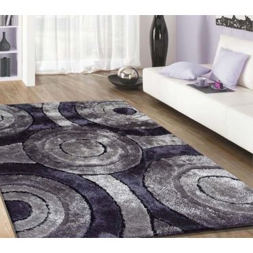 Grey Shag Rug Modern Design 110
