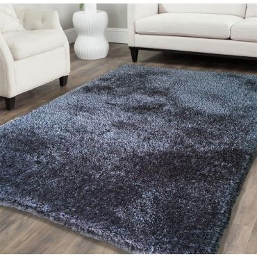 Shag Visco Hand Tufted Grey Rug