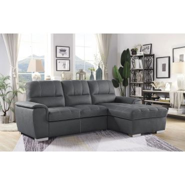 Greyson Gray Sectional Sleeper