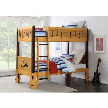 Guitar Twin Over Twin Bunk Bed