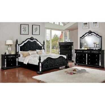 Hailey Bedroom Furniture Black Finish