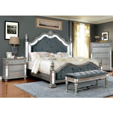 Hailey Silver Finish Bedroom Furniture