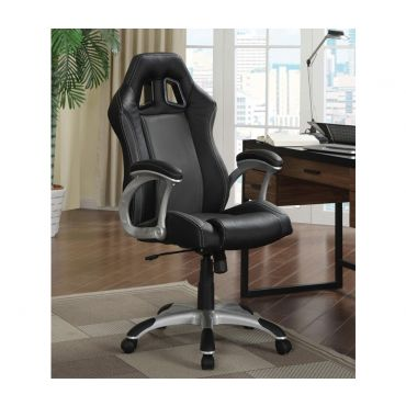 Hammer Black Leather Office Chair
