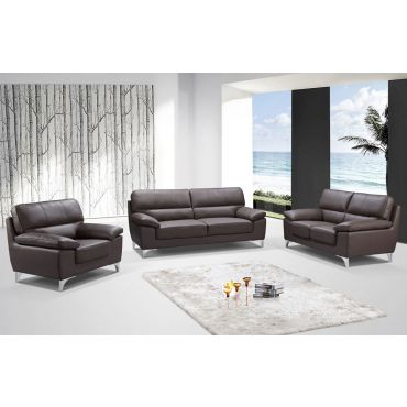 Hanari Espresso Leather Sofa