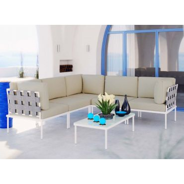 Harmony Modern Beige Outdoor Sectional Set