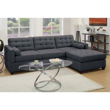 Miley Linen Fabric Sectional Sofa,Miley Sectional in Opposite Side