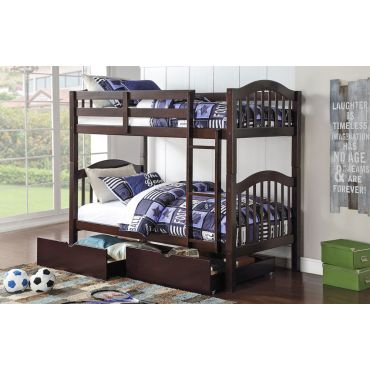 Harriet Espresso Twin Over Twin Bunk Bed