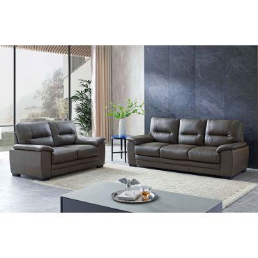Hartford Grey Leather Living Room Furniture