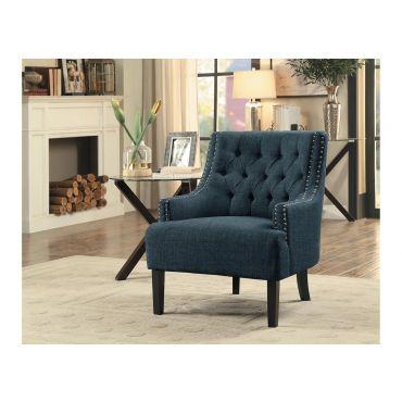 Hartwell Accent Chair Dark Blue Linen