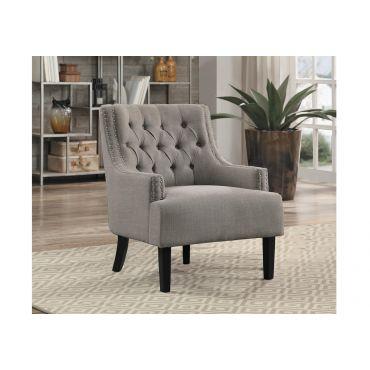 Hartwell Accent Chair Grey Linen