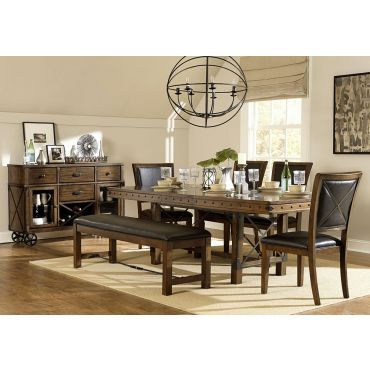Hawn Industrial Style Dining Table Set