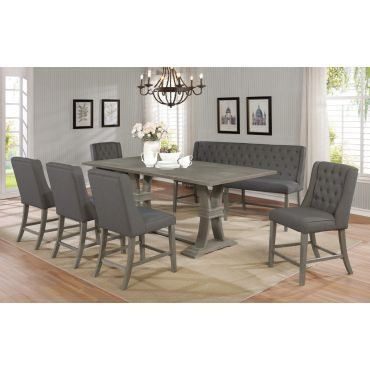Hawn Rustic Grey Counter Height Table Set