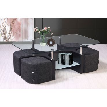Hayes Coffee Table With Stools