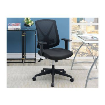 Hazel Black Mesh Upholstered Office Chair