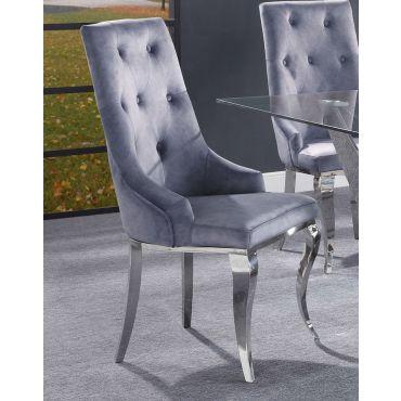 Healy Grey Velvet Chair