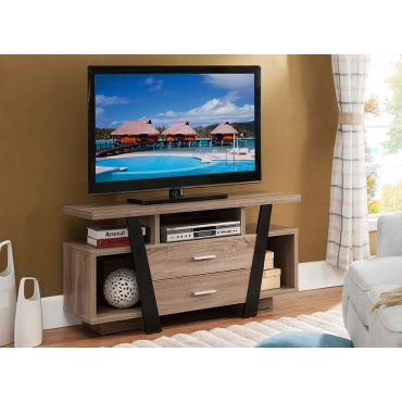 Hebe Modern Rustic Finish TV Stand