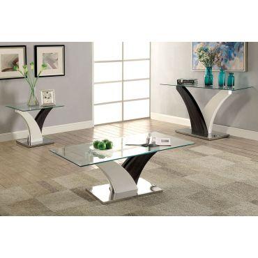 Helix Grey White Modern Coffee Table