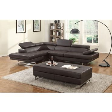 Hester Espresso Leather Sectional