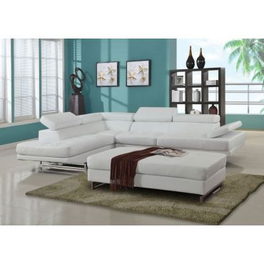 Hester Modern Sectional Adjustable Headrests