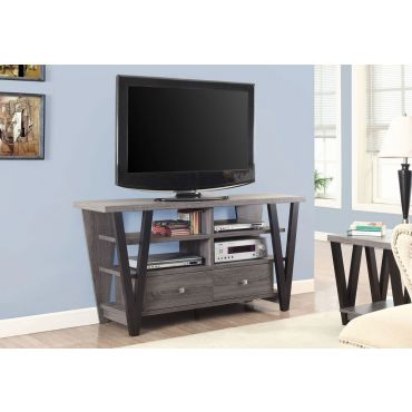 Hidy Rustic Grey Finish TV Stand