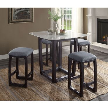 Hilma Marble Top Pub Table Set