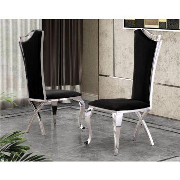 Hobson Black Velvet Dining Chairs