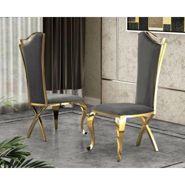 Malt Black Velvet Dining Chair (Set of 2)
