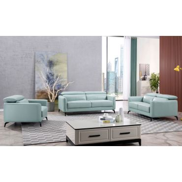 Holborn Teal Top Grain Leather Sofa Set