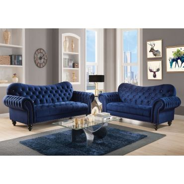 Holder Navy Blue Chesterfield Sofa,Holder Navy Blue Crystal Tufted Sofa,Holder Navy Blue Sofa Fabric