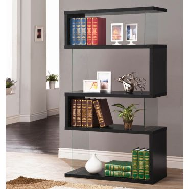 Holray Modern Black Bookcase Display