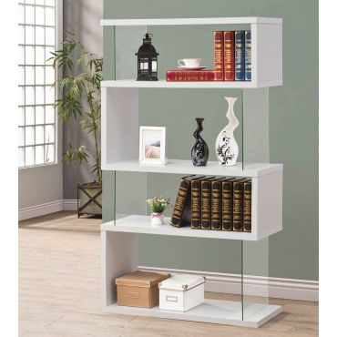Holray Modern White Bookcase Display