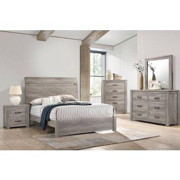 Hopkin Rustic Grey Modern Bed